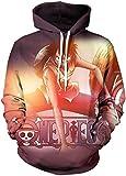 PANOZON Sudaderas One Piece Hombre Luffy 3D Camisetas de One Piece Unisex Hoodie con Capucha (5XL, One Piece 10-1)