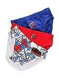 takestop Calzoncillos tipo slip con diseño de Spiderman, de 3 piezas, de algodón, diseño de Spiderman, ideal como regalo de fantasía informal (4/5 años)