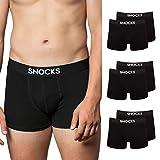 Snocks Calzoncillos Hombre Boxer Algodón Orgánico (6X) Boxer Hombre Pack Negro Tamaño XL Paquete de 6 Ropa Interior Bóxers Bóxer Ajustados