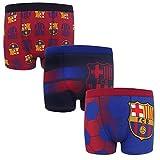 FC Barcelona - Pack de 3 calzoncillos oficiales de estilo bóxer - Para niños - Con el escudo del club - Multicolor - 11-12 años