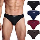 wirarpa Slip Microfibra Hombre Modal Ropa Interior Briefs Calzoncillo para Hombre Pack de 4 Multicolor Tamaño M