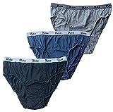 Duke London - Calzoncillos de algodón para hombre (3 unidades, talla 1XL, 6XL) Negro - Gris - Azul Marino XXXXL