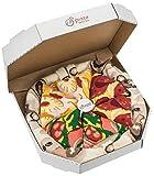Rainbow Socks - Pizza MIX Italiana Hawaiana Pepperoni Mujer Hombre - 4 pares de Calcetines - Tamaño 36-40