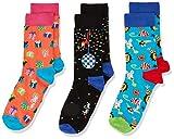 Happy Socks Kids Party Animal Gift Box Calcetines, Multicolor (Multicolour 100), 0-12 meses (Talla del fabricante: 0-12M) (Pack de 3) para Bebés