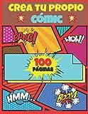 Crea tu propio cómic. 100 páginas.: Plantillas de cómics en blanco para adultos, adolescentes y niños con globos o bocadillos – cuaderno de dibujo - tamaño grande 21,59 x 27,94 cm