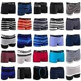 Fabio Farini - Multipack Seamless Men's Boxer Shorts Super cómodos de Microfibra elástica para el Deporte, el Ocio y el Uso Diario Paquete de 8 M
