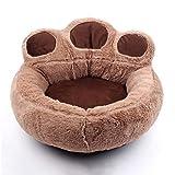 Y & Z Cama para Mascotas Calzoncillos de Felpa a Prueba de Cama Soft Round Cat Sleeping Bed Soft u para Gatos y Perros pequeños medianos (marrón M-19.7'x 7.9')