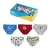 ARTESANÍA CERDÁ Bragas de algodón para niños con diseño de Mickey Mouse, juego de 5 y 6 piezas, de 2 a 6 años, Box Blue, 5-6 Años