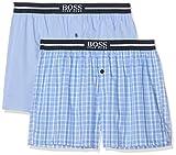 BOSS Nos Boxer EW 2p Bóxers, Azul (Open Blue 471), Medium (Pack de 2) para Hombre