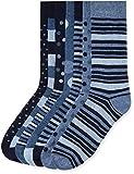 Marca Amazon - find. Calcetines Hombre, Pack de 7, Azul (Blue Mix), 39-43.5 EU, Label: 6-9.5 UK