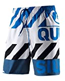 Quiksilver–Bañador para hombre, azul/blanco