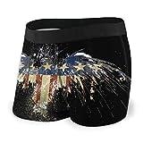 American Flag Patriotic Eagle Art - Calzoncillos para hombre Negro Negro ( XXL