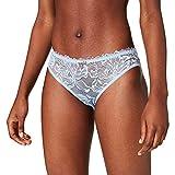 Emporio Armani Underwear Brief Eternal Lace Calzoncillos, Azul Celeste, L para Mujer