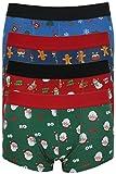 Calzoncillos bóxers Tom Franks para hombre, diseño de Navidad 4 Pack Multi Small