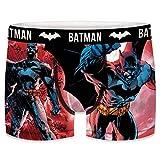 FREEGUN T422-1-L Batman, de DC COMICS-microfibra-92% poliéster, 8% Elastano, Boxer Unitario T422-1, L para Hombre