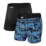Saxx Underwear - Calzoncillos bóxer para hombre – Ropa interior interior para hombre – Calzoncillos tipo bóxer con soporte integrado para bolsa Ballpark – Pack de 2 unidades