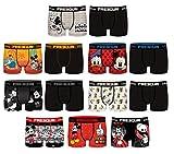 Ozabi – Pack de 4 bóxers sorpresa Freegun de microfibra, varios modelos de fotos según disponibilidad, multicolor, Pack Mickey Mouse, L
