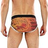 REFFW Bulge Pouch Cool Tradicional Chino Dragón Stretch Boxer Trunk Calzoncillos para Hombre