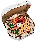 Rainbow Socks - Pizza Mix Mariscos Pepperoni Italiana - Mujer Hombre - 4 pares de Calcetines - Tamaño 36-40