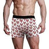 DXG1 - Calzoncillos bóxer para el día de San Valentín para Hombre, Ropa Interior para Adolescentes, niños, S, M, L, XL Multicolor Multicolor S