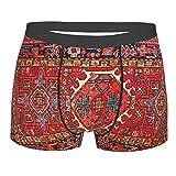 Irán persa alfombra oriental Glam iraní étnico tradicional tribal calzoncillos para hombre calzoncillos suaves y transpirables elásticos ropa interior novedad