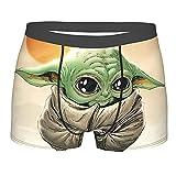 Weimisi Bóxers Ajustados para Hombre Baby Yoda Star The Wars - Calzoncillos Tipo bóxer para Hombre diseño Tela elástica, cinturón cómodo y Transpirable S