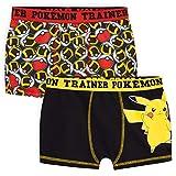 Pokemon Boxer Niño, Pack de 2 Calzoncillos Niño Transpirables, Ropa Niño Interior de Algodon, Regalos para Niños Edad 4-14 Años (Multi, 7-8 años)