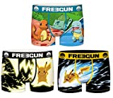 Freegun - Lote de 3 bóxers para niño Serie Pokemon 1 14-16 años