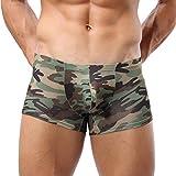 Saoye Fashion Pantalones Cortos De Boxeador Ropa Calentamiento Bajo Funda Hombre El para Hombres Militares Camuflaje Calzoncillos Calzoncillos Calzoncillos Bragas Panty (Color : Bunt, Size : L)