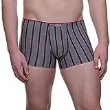 Bruno Banani Short Play Hard Pantalones Cortos, Gris (Graumelange/Red Stripes 2322), S para Hombre