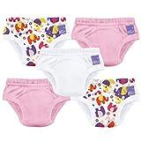 Bambino Mio Potty Training Pack de 5 Pañales de Aprendizaje, Multicolor (Mixed Girl Pink Elephant), 3 Años+