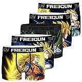 FREEGUN Calzoncillo Ropa Interior Hombre Microfibra Dragon Ball Z (Juego de 5)