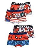 Juego de 4 calzoncillos tipo bóxer para niños de Spiderman multicolor 92/98 cm