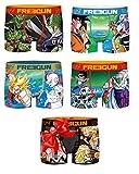 Freegun - Calzoncillos para hombre de fantasía, juego de 4 + 1 gratis Pack Dragonball Z 3 S