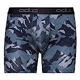 Odlo Suw Bottom Boxer Active Everyday 2 Pack Boxer, Hombre, Bering Sea - Mountain Camo AOP Fw19 - Black, S