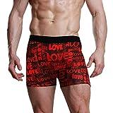 DXG1 Calzoncillos bóxer para Hombre, Color Rojo, para el día de San Valentín, S, M, L, XL Multicolor Multicolor M