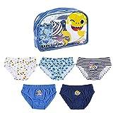 CERDÁ LIFE'S LITTLE MOMENTS 2200007394_T0102-C81 Pack Calzoncillos Niño de Baby Shark con Licencia Oficial Nickelodeon, Multicolor, 1 año para Niños