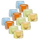 Usex Sense 12 Pack Bóxers Calzoncillos Ropa Interior Algodon para Niños 2-10 años(8-10 años,3055XL)