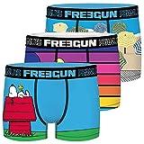 FREEGUN Calzoncillo Ropa Interior Hombre Microfibra Snoopy (Juego de 3)