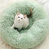Y & Z Cama para Mascotas Calzoncillos a Prueba de Felpa Cama para Dormir Suave y Redonda para Gatos Cama para Mascotas Suave para Perros y Mascotas Pet Verde S-15.7'x 7'