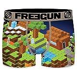 FREEGUN Arcade Talla XXL FREEGUN-Multicolor-92% poliéster 8% Elastano, Boxer Unitario T609-1, Hombre