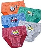 ORPAPA Calzoncillos para niños pequeños, pack de 5 unidades, de algodón, para niños de 2 a 5 años, Slip Auto, 2-3 años