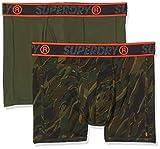 Superdry Sport Double Boxer, Multicolor (Nórdica Khaki/Canopy Camo W6l), S para Hombre
