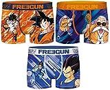Freegun - Lote de 3 bóxers para hombre Serie Dragon Ball Z S