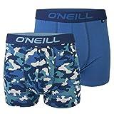 O'Neill Calzoncillos tipo bóxer para hombre, línea básica, juego de 2, para cada día (camuflaje, azul, XXL)