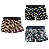 MAKABO Bóxer Hombre Algodon Calzoncillos Corto Tipo Bóxer de Moda para Cualquier ocasión Stretch Boxer Pantalones