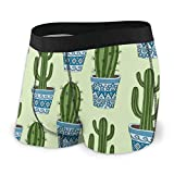 Funny Z Ropa Interior Personalizada Calzoncillos Bonsái Cactus Boxer para Hombres Niños Juventud Soft Comfort M