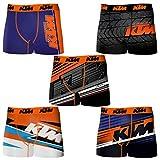 KTM Set 10 Boxer Microfibra (92% poliéster-8% Elastano) -Multicolor, Pack 10pcs PK1195, S para Hombre