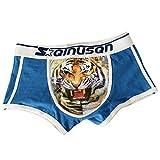 LKXHarleya Men Shorts con Estampado De Tigre, Calzoncillos De AlgodóN, Calzoncillos para Hombres, Azul, XXXL