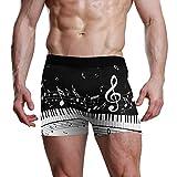 XiangHeFu Calzoncillos de Boxeador para Hombre Teclas de Piano abstractas con Notas Musicales Estiramiento Calzones Transpirables